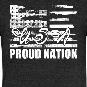 USA Patriots Day Shirt - Unisex Tri-Blend T-Shirt by American Apparel