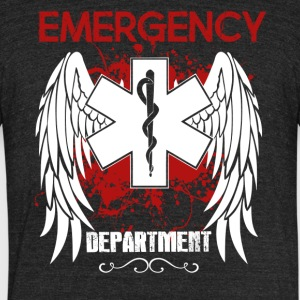 Emergency Department Shirt - Unisex Tri-Blend T-Shirt by American Apparel