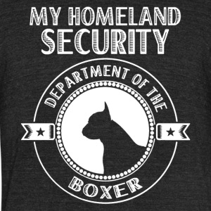 Boxer Homeland Security Shirt - Unisex Tri-Blend T-Shirt by American Apparel