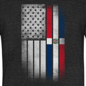 Dominican American Flag - Half Dominican Half Amer - Unisex Tri-Blend T-Shirt by American Apparel