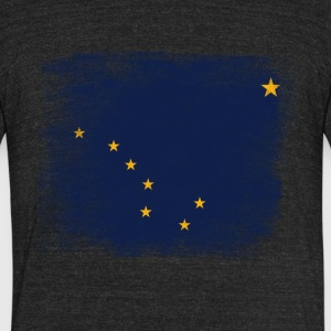 Alaska State Flag Distressed Vintage - Unisex Tri-Blend T-Shirt by American Apparel