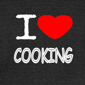 I LOVE COOKING - Unisex Tri-Blend T-Shirt by American Apparel