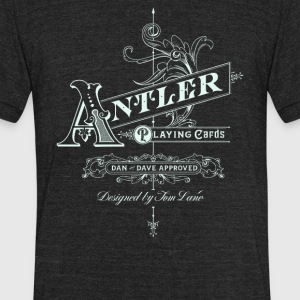 Antler playing cards - Unisex Tri-Blend T-Shirt by American Apparel