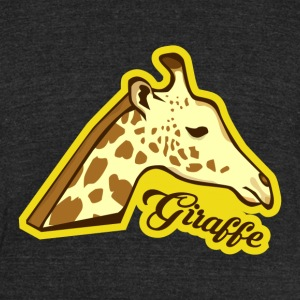 Giraffe - Unisex Tri-Blend T-Shirt by American Apparel