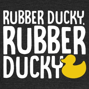 Rubber Ducky Shirt - Unisex Tri-Blend T-Shirt by American Apparel