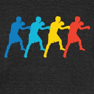 Retro Boxing Pop Art - Unisex Tri-Blend T-Shirt by American Apparel