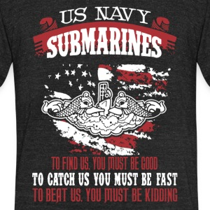 US Navy Submarine Shirt - Unisex Tri-Blend T-Shirt by American Apparel