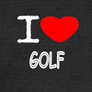 I LOVE GOLF - Unisex Tri-Blend T-Shirt by American Apparel