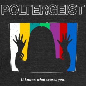 Poltergeist by Andre Moraes - Unisex Tri-Blend T-Shirt by American Apparel