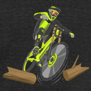 Lumberjack Bike - Unisex Tri-Blend T-Shirt by American Apparel