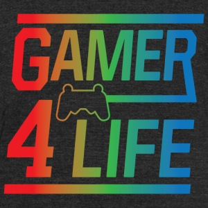 Gamer 4 Life - Unisex Tri-Blend T-Shirt by American Apparel