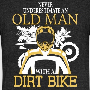 Old Man With A Dirt Bike T Shirt - Unisex Tri-Blend T-Shirt by American Apparel