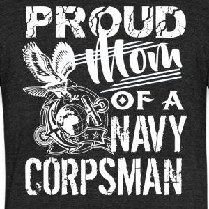 Navy Corpsman Mom Shirt - Unisex Tri-Blend T-Shirt by American Apparel