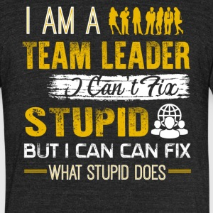Team Leader Shirt - Unisex Tri-Blend T-Shirt by American Apparel