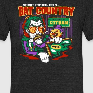 Bat Country Joker and Penguin - Unisex Tri-Blend T-Shirt by American Apparel