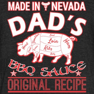 Made In Nevada Dads BBQ Sauce Original Recipe - Unisex Tri-Blend T-Shirt by American Apparel