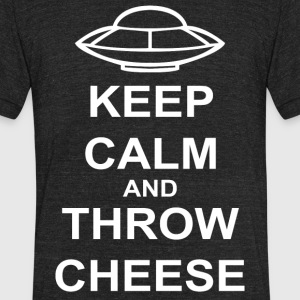 Keep Calm and Throw Cheese - Unisex Tri-Blend T-Shirt by American Apparel