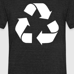 Recycle Screen Printed - Unisex Tri-Blend T-Shirt by American Apparel