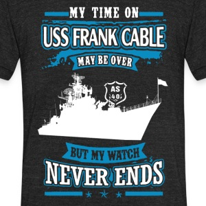 USS Frank Cable Shirt - Unisex Tri-Blend T-Shirt by American Apparel