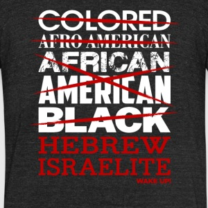 Hebrew Israelite I'm Not Colored African American - Unisex Tri-Blend T-Shirt by American Apparel