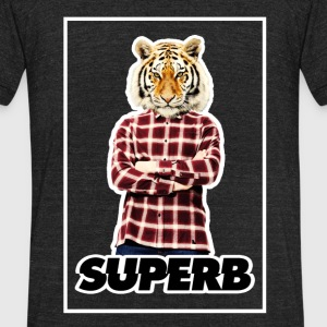 Tiger Man Superb - Unisex Tri-Blend T-Shirt by American Apparel