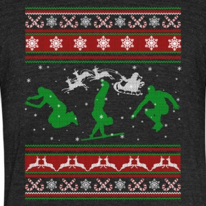 Parkour Shirt - Parkour Christmas Shirt - Unisex Tri-Blend T-Shirt by American Apparel