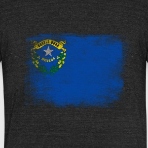 Nevada State Flag Distressed Vintage - Unisex Tri-Blend T-Shirt by American Apparel
