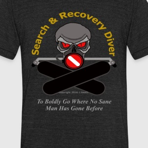 Search & Recovery Diver - To Boldly Go - Unisex Tri-Blend T-Shirt by American Apparel