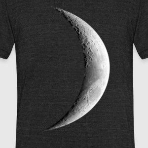 Half Moon - Unisex Tri-Blend T-Shirt by American Apparel