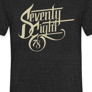 Seventy eight - Unisex Tri-Blend T-Shirt by American Apparel