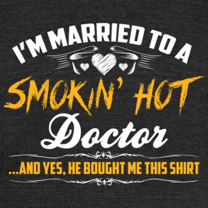 doctor married - Unisex Tri-Blend T-Shirt by American Apparel