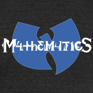 wutang mathematics - Unisex Tri-Blend T-Shirt by American Apparel