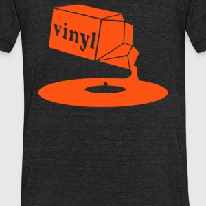Vinyl Record - Unisex Tri-Blend T-Shirt by American Apparel