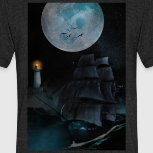 Ghost Ship - Unisex Tri-Blend T-Shirt by American Apparel