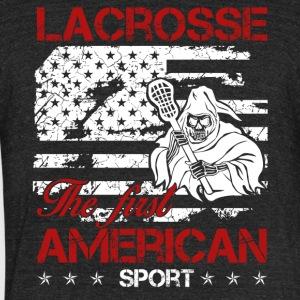 Lacrosse First American Sport Shirt - Unisex Tri-Blend T-Shirt by American Apparel