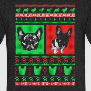 Boston Terrier Ugly Christmas Sweater - Unisex Tri-Blend T-Shirt by American Apparel
