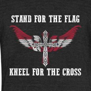Stand for the flag Denmark kneel for the cross - Unisex Tri-Blend T-Shirt by American Apparel