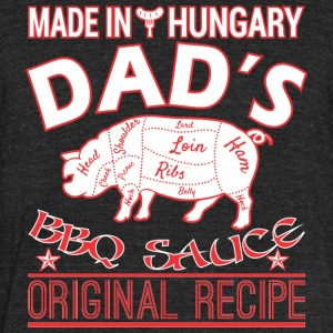 Made In Hungary Dads BBQ Sauce Original Recipe - Unisex Tri-Blend T-Shirt by American Apparel