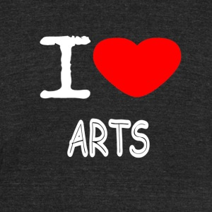 I LOVE ARTS - Unisex Tri-Blend T-Shirt by American Apparel