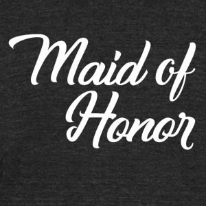 Maid of Honor - Unisex Tri-Blend T-Shirt by American Apparel