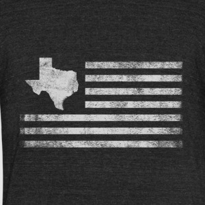 Texas State United States Flag Vintage USA - Unisex Tri-Blend T-Shirt by American Apparel