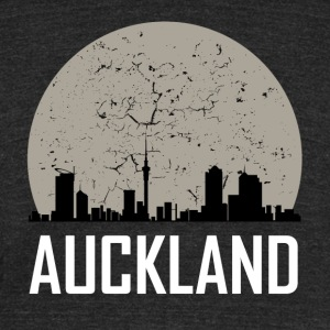 Auckland Full Moon Skyline - Unisex Tri-Blend T-Shirt by American Apparel