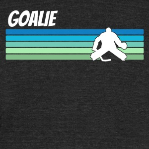 Retro Hockey - Unisex Tri-Blend T-Shirt by American Apparel