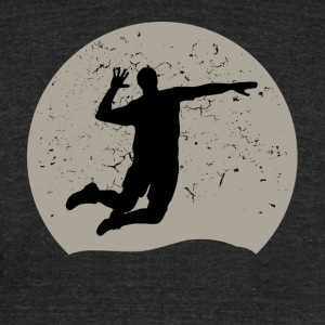 Volleyball Full Moon - Unisex Tri-Blend T-Shirt by American Apparel