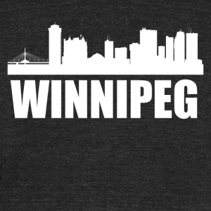 Winnipeg Skyline - Unisex Tri-Blend T-Shirt by American Apparel