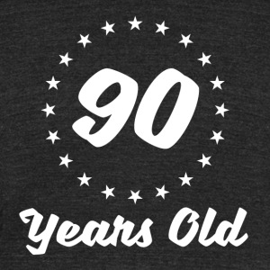 90 Years Old - Unisex Tri-Blend T-Shirt by American Apparel