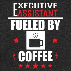 Executive Assistant Fueled By Coffee - Unisex Tri-Blend T-Shirt by American Apparel