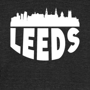 Leeds England Cityscape Skyline - Unisex Tri-Blend T-Shirt by American Apparel