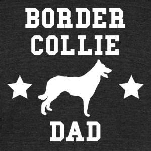 Border Collie Dad - Unisex Tri-Blend T-Shirt by American Apparel