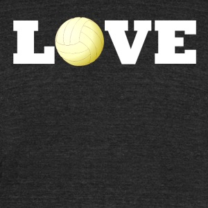 Volleyball Love - Unisex Tri-Blend T-Shirt by American Apparel